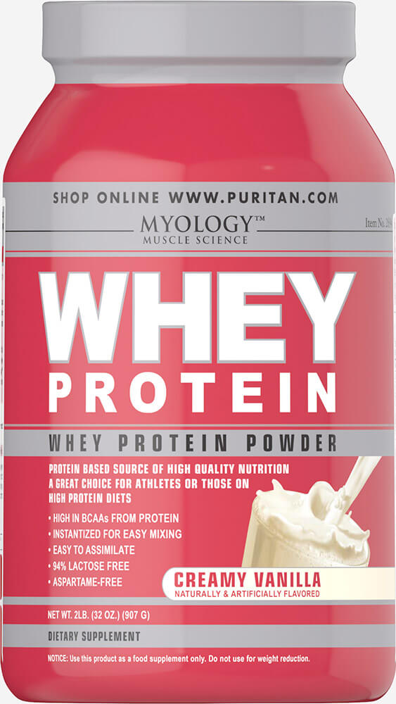 Myology Myology? ; Whey Protein Creamy Vanilla-2 lbs Powder to build muscle fast