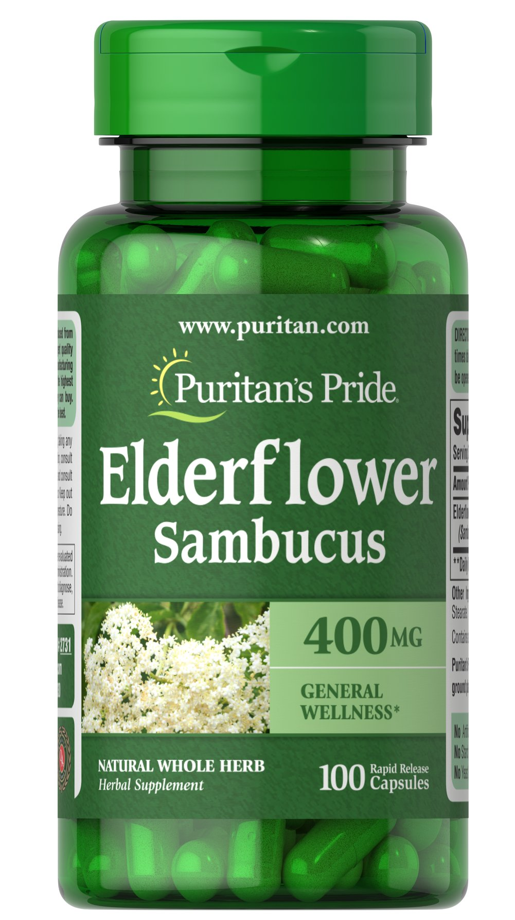 Elderflower Sambucus 400 mg
