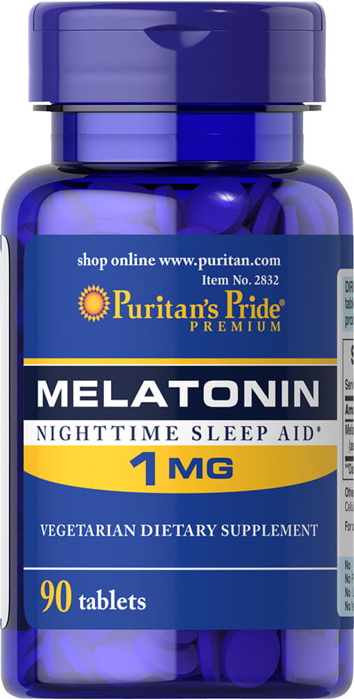 Melatonin 1 mg Thumbnail Alternate Bottle View