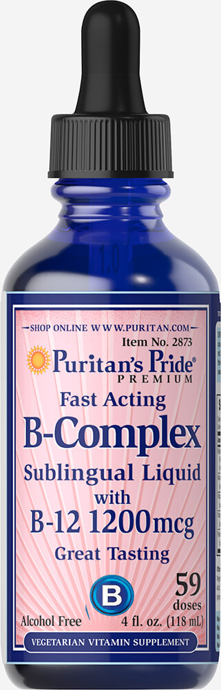 Liquid Vitamin B Complex Sublingual with Vitamin B-12