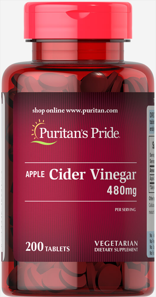 Apple Cider Vinegar 480 mg Thumbnail Alternate Bottle View