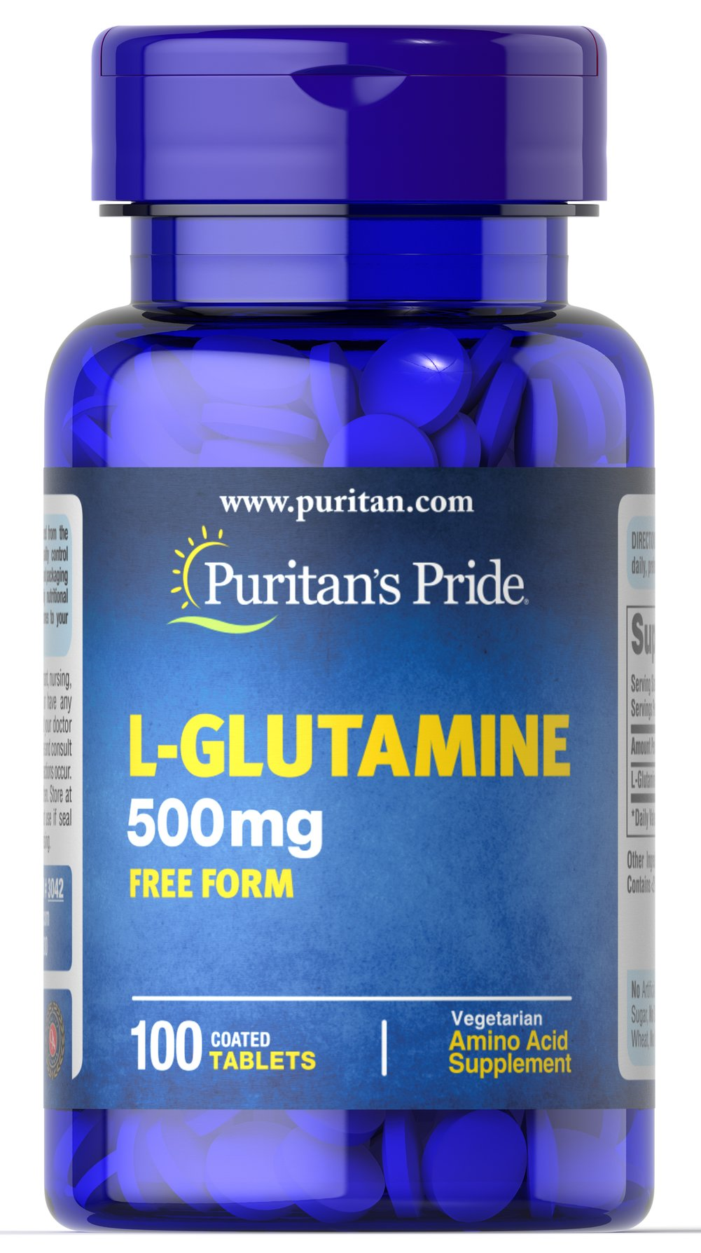 L-Glutamine 500 mg Thumbnail Alternate Bottle View