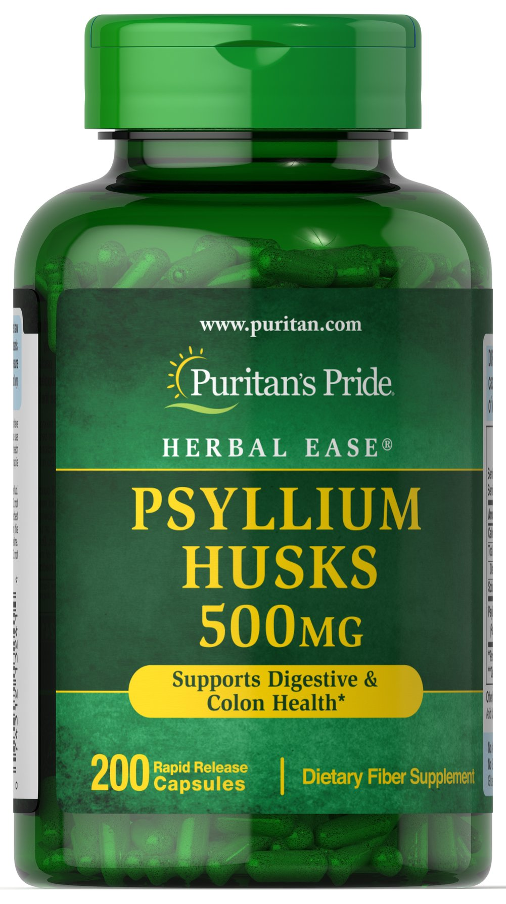 Psyllium Husks 500 mg Thumbnail Alternate Bottle View