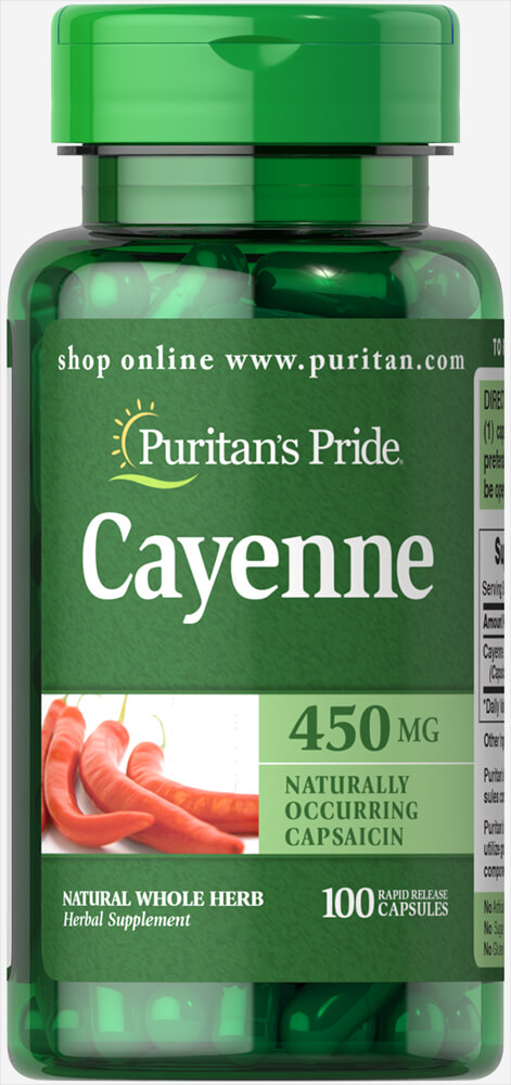 Cayenne (Capsicum) 450 mg Thumbnail Alternate Bottle View