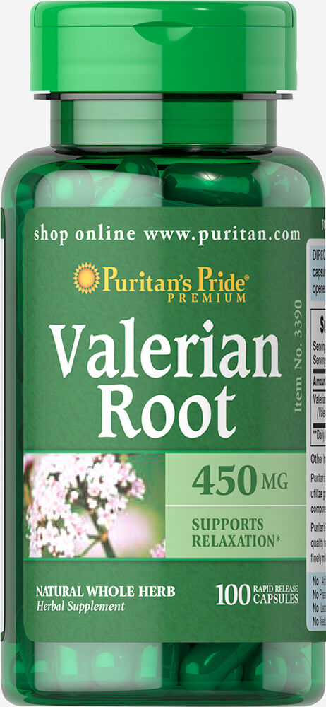 Valerian Root 450 mg Thumbnail Alternate Bottle View