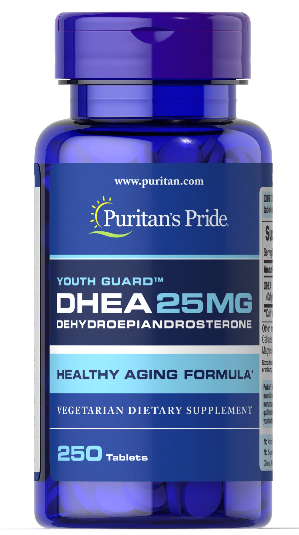 DHEA 25 mg Thumbnail Alternate Bottle View