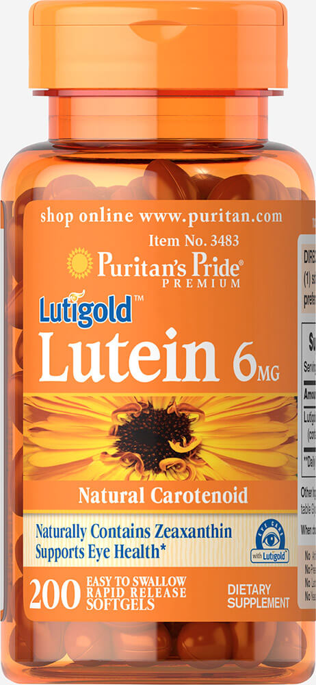 Lutein 6 mg with Zeaxanthin Thumbnail Alternate Bottle View