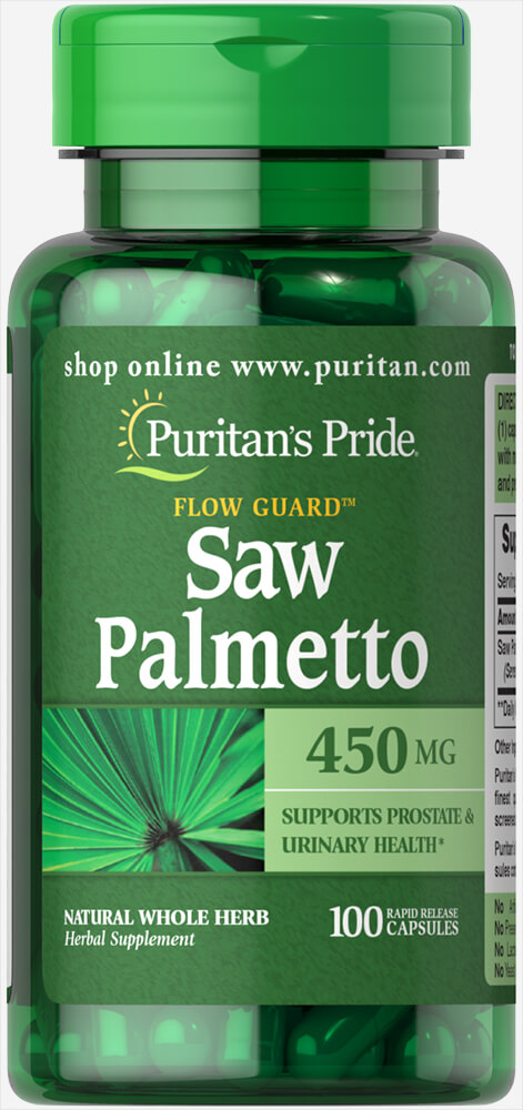 Saw Palmetto 450 mg Thumbnail Alternate Bottle View