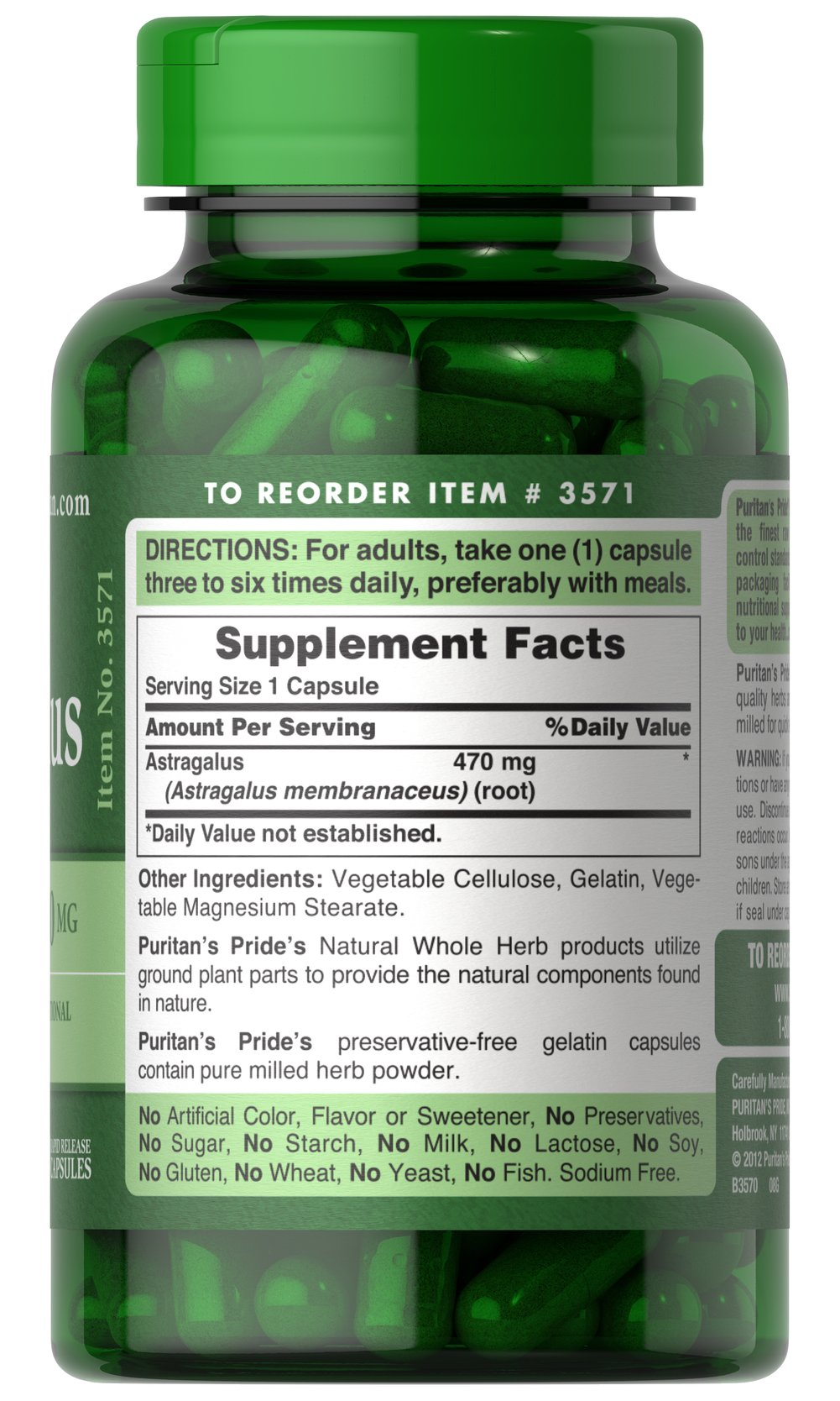 Astragalus 470 mg Thumbnail Alternate Bottle View