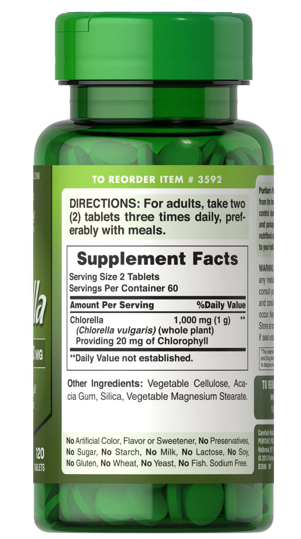Natural Chlorella 500 mg