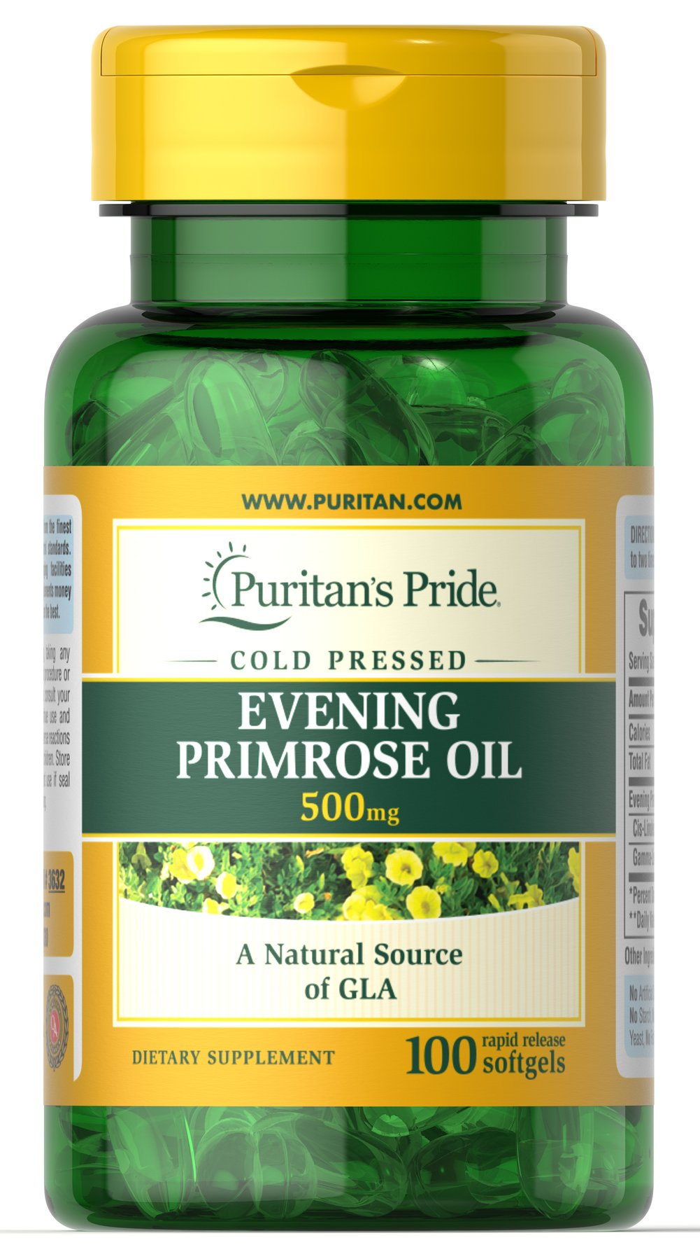 Evening Primrose Oil 500 mg with GLA Thumbnail Alternate Bottle View