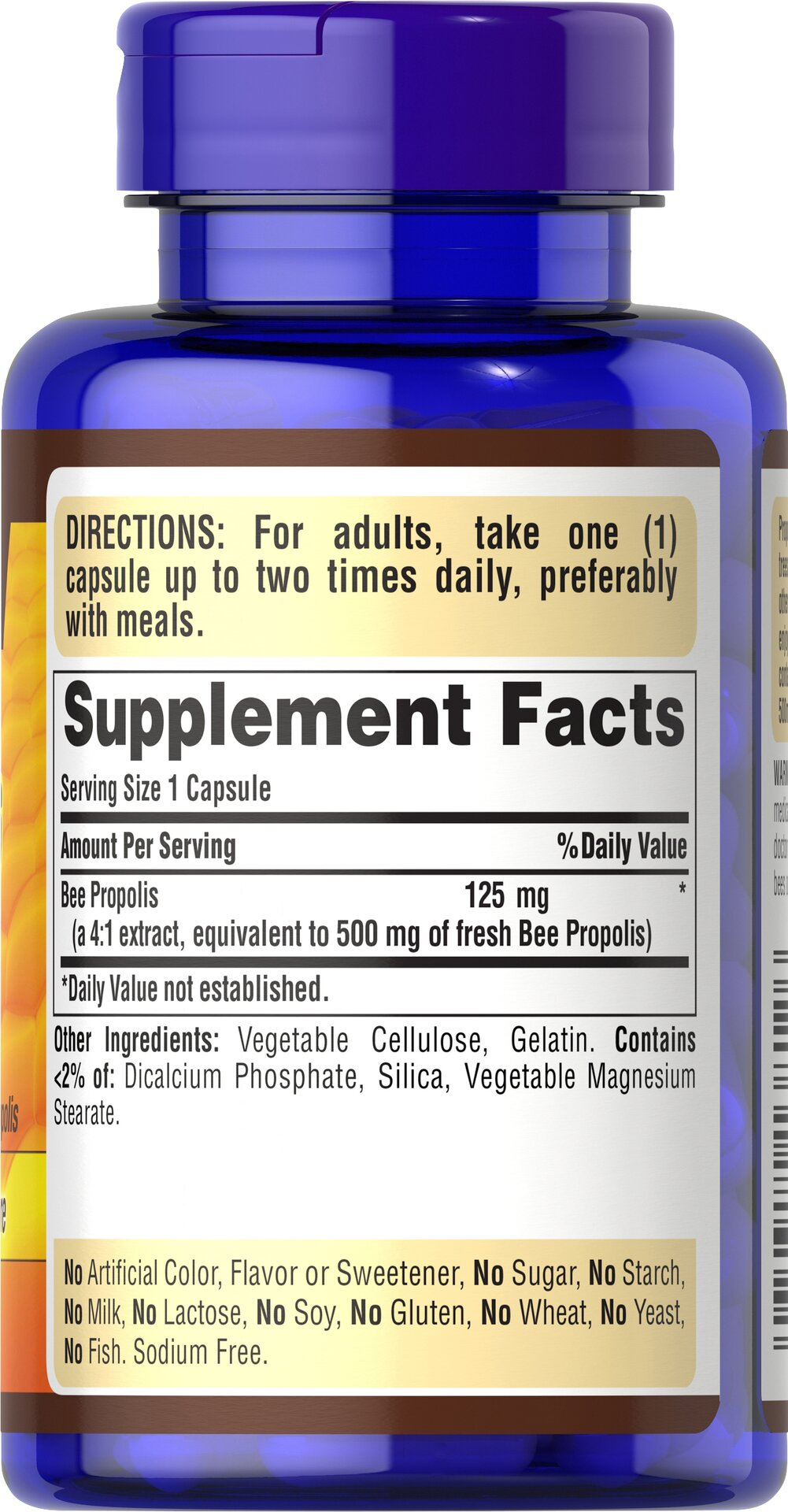 Bee Propolis 500 mg Thumbnail Alternate Bottle View