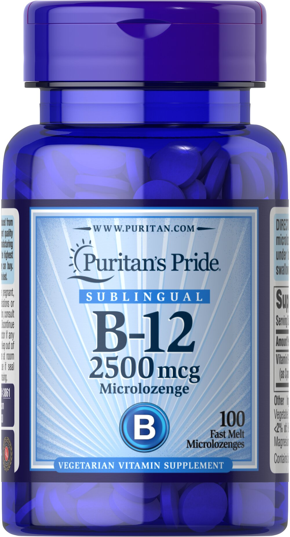 Vitamin B-12 2500 mcg Sublingual Thumbnail Alternate Bottle View