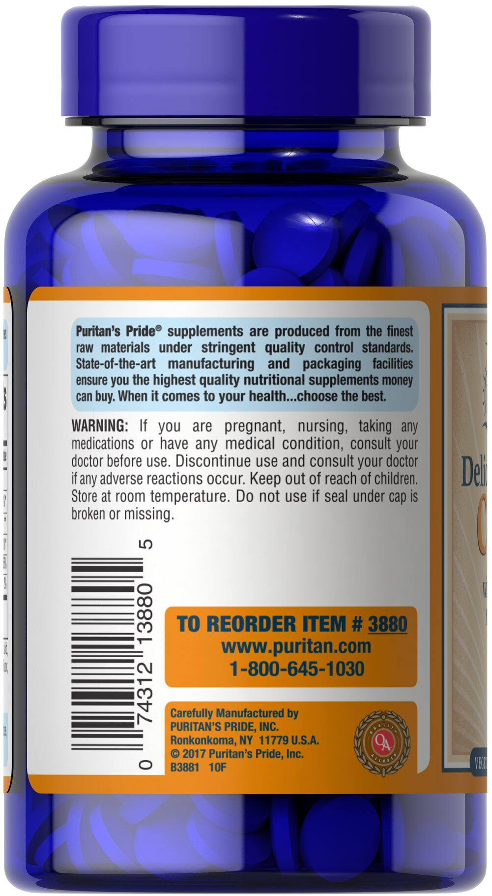 Chewable Vitamin C 500 mg with Rose Hips Thumbnail Alternate Bottle View