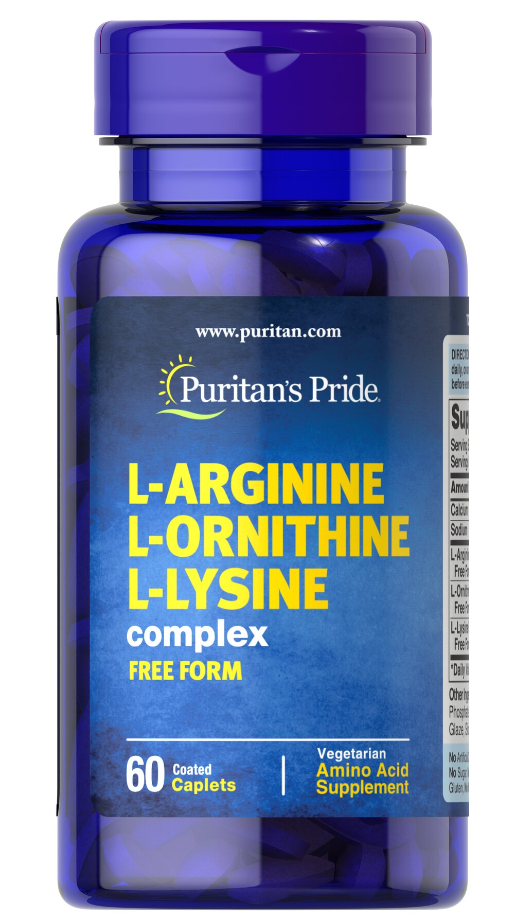L-Arginine L-Ornithine L-Lysine Thumbnail Alternate Bottle View