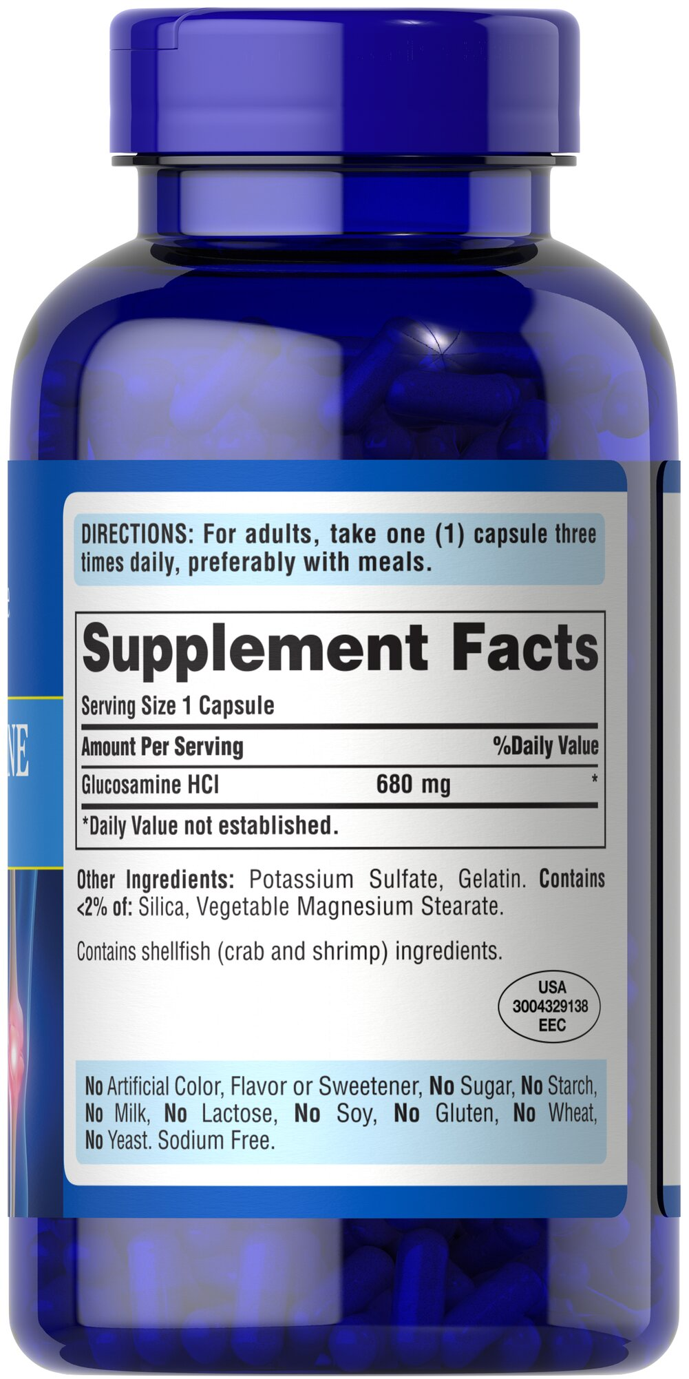 Glucosamine Sulfate 1000 mg Thumbnail Alternate Bottle View