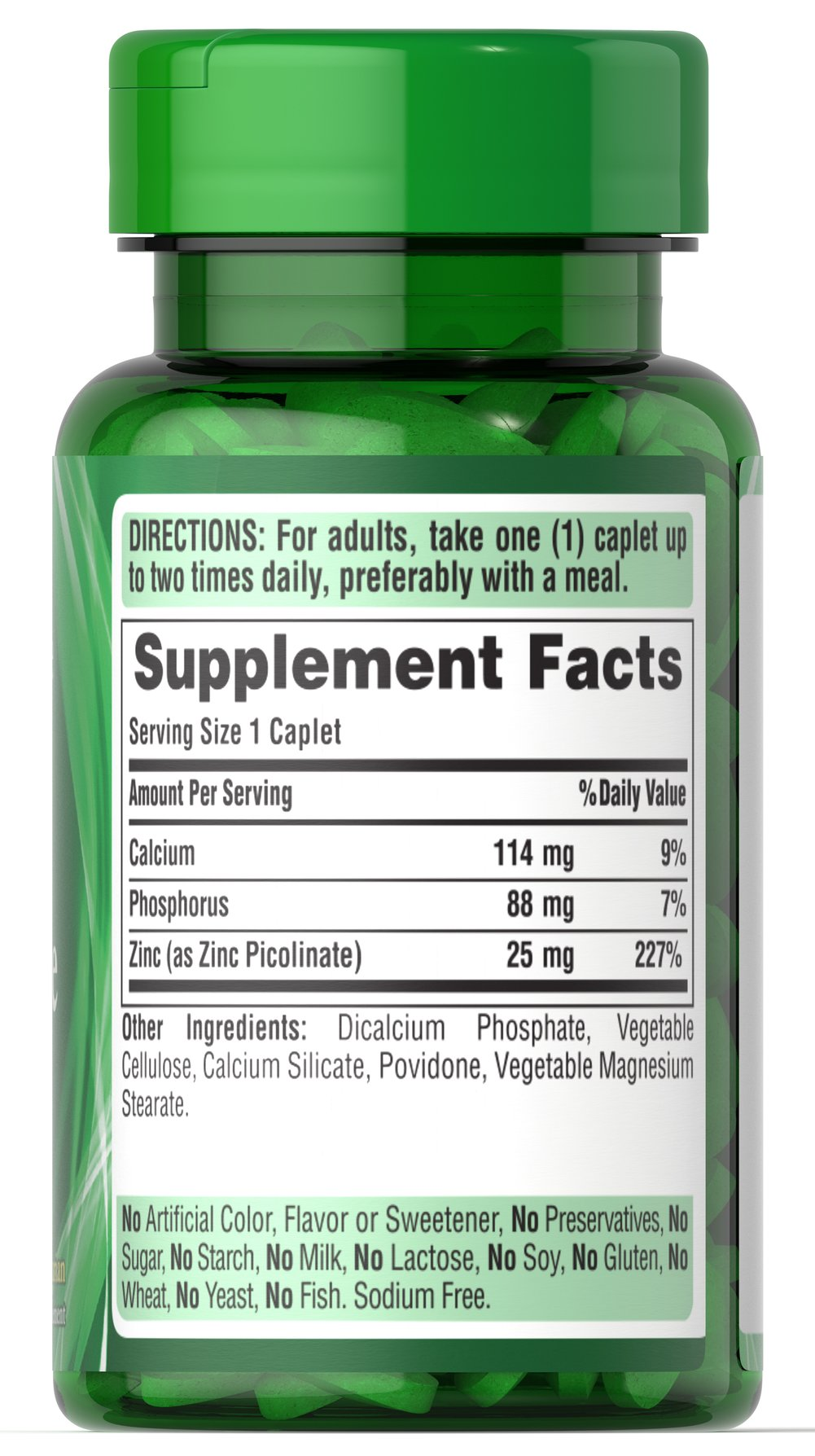 Zinc Picolinate 25 mg Thumbnail Alternate Bottle View
