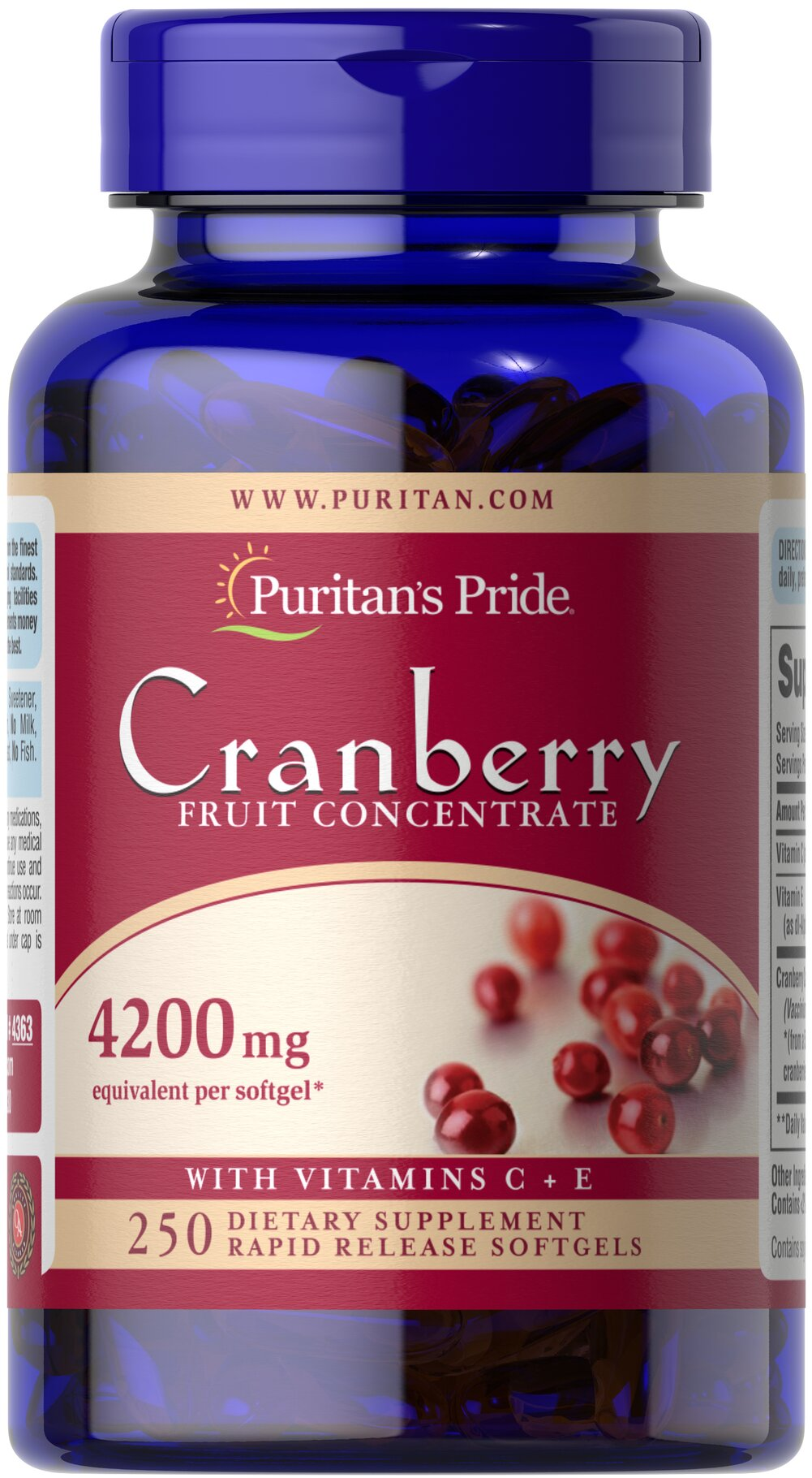 Cranberry Fruit Concentrate with C & E 4200 mg Thumbnail Alternate Bottle View