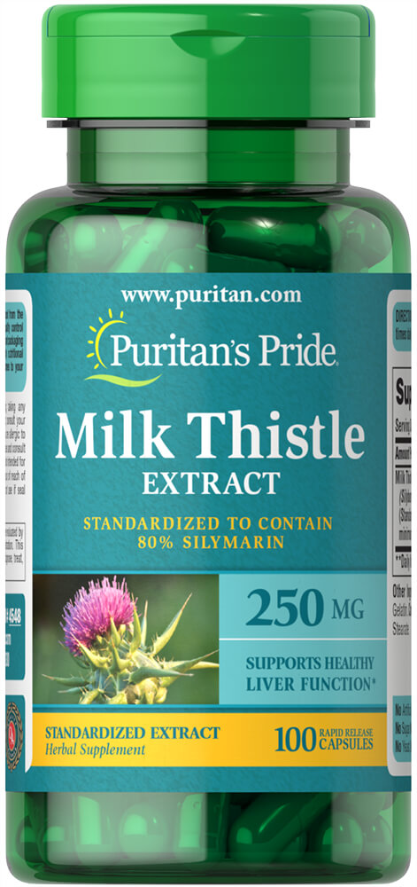 Milk Thistle Standardized 250 mg (Silymarin) Thumbnail Alternate Bottle View