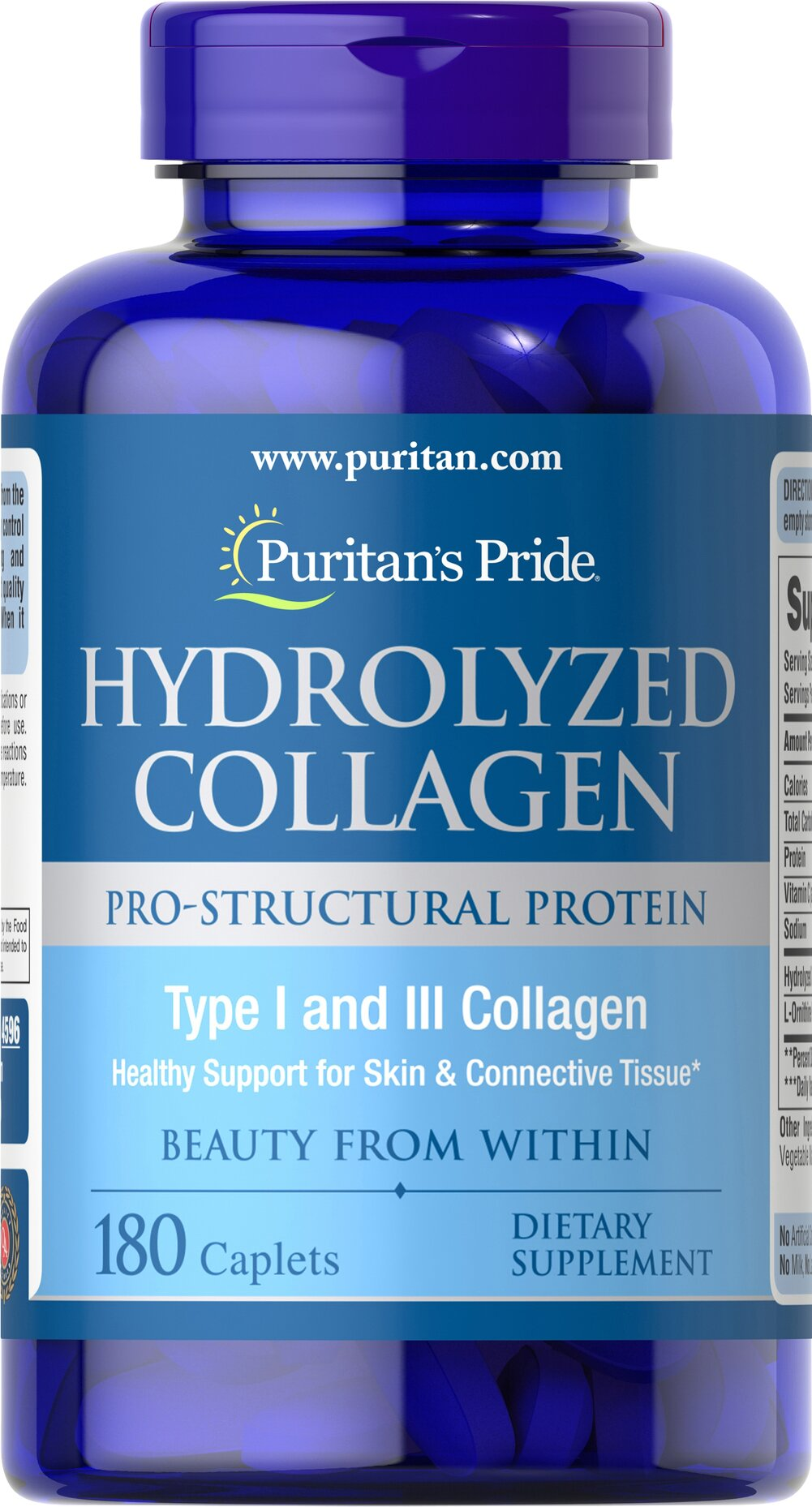 Hydrolyzed Collagen 1000 mg Thumbnail Alternate Bottle View