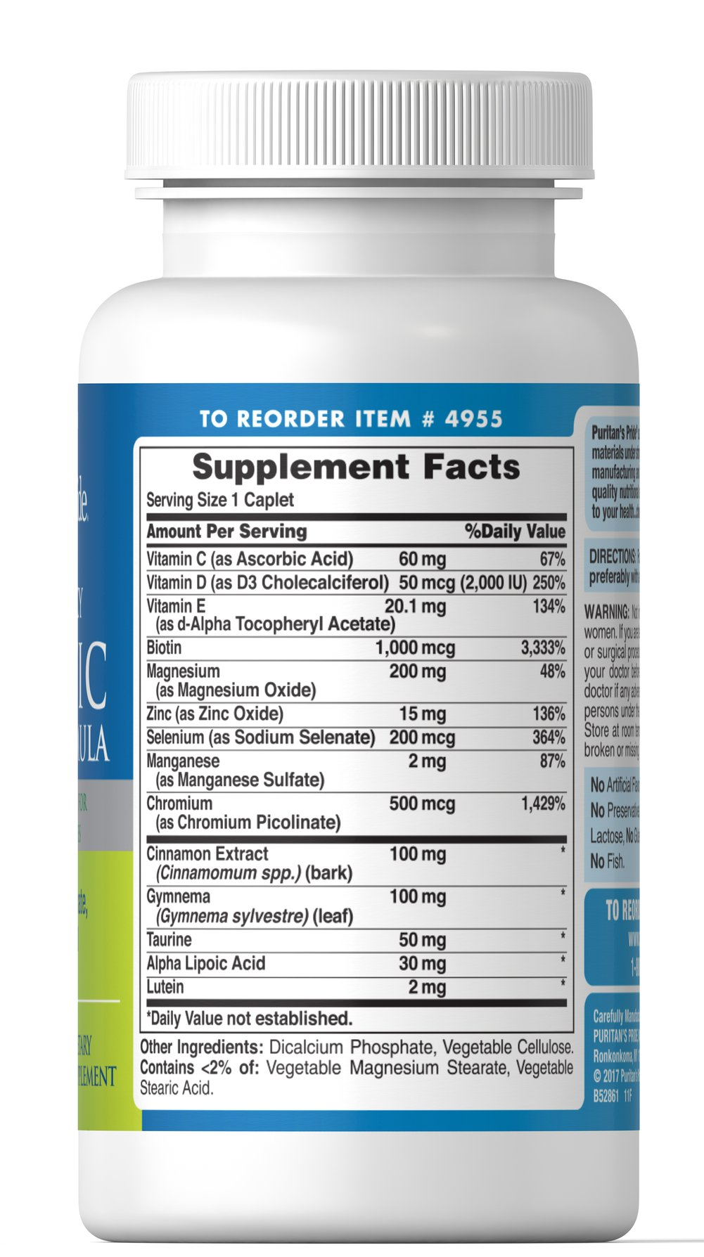 Diabetic Support Formula Thumbnail Alternate Bottle View