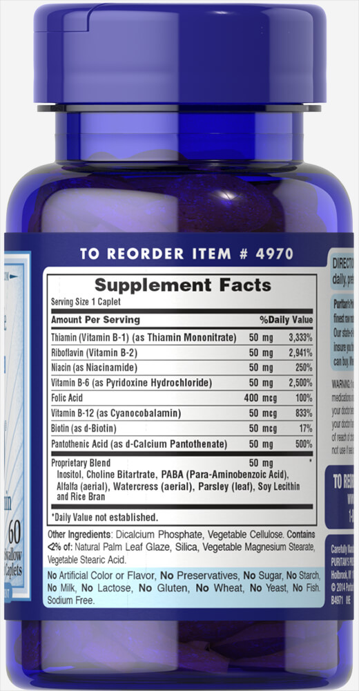 Vitamin B-50® Complex Timed Release Thumbnail Alternate Bottle View