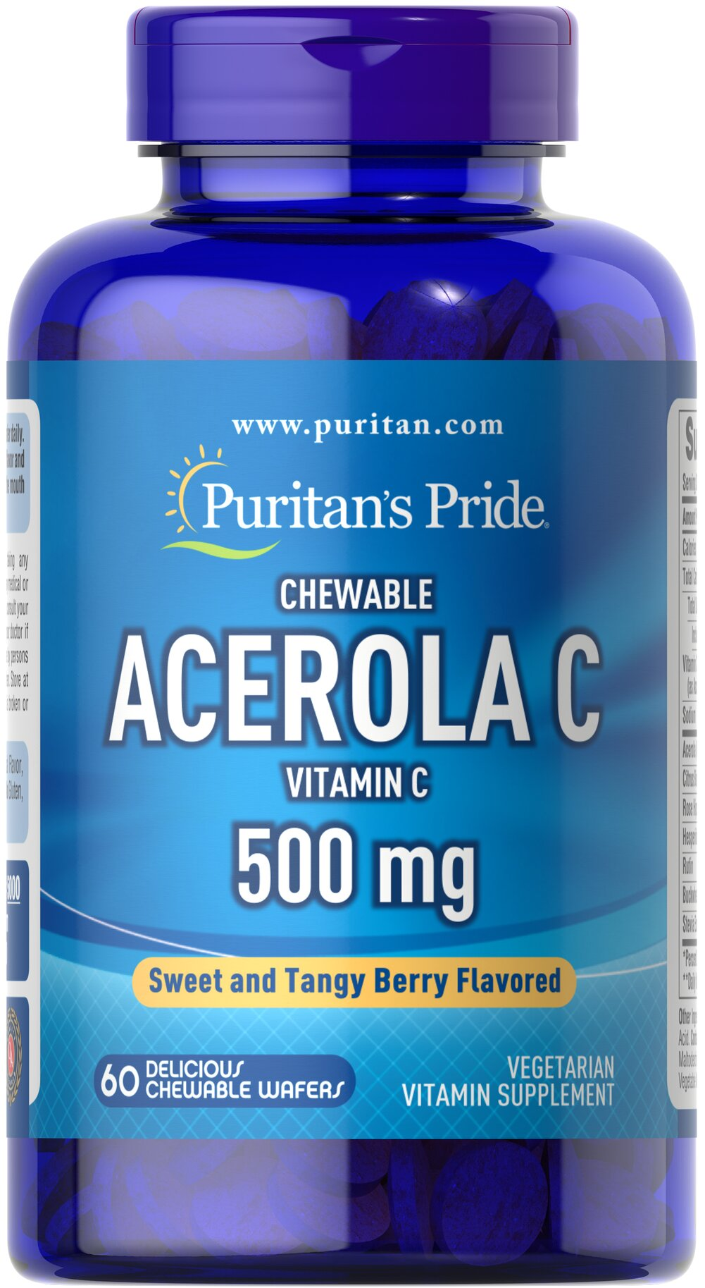 Chewable Acerola C 500 mg Thumbnail Alternate Bottle View