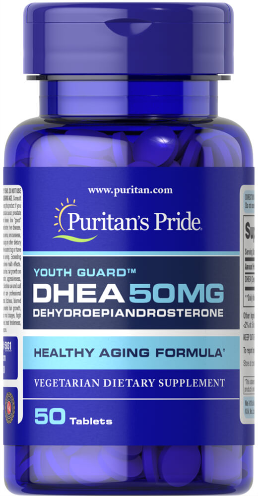 DHEA 50 mg Thumbnail Alternate Bottle View