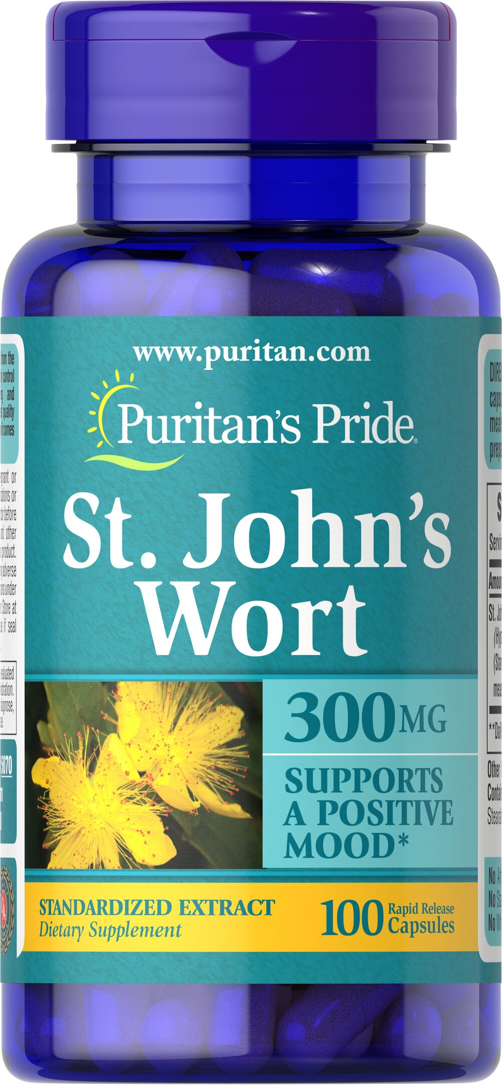St. John's Wort Standardized Extract 300 mg Thumbnail Alternate Bottle View