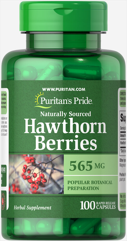 Hawthorn Berries 565 mg Thumbnail Alternate Bottle View