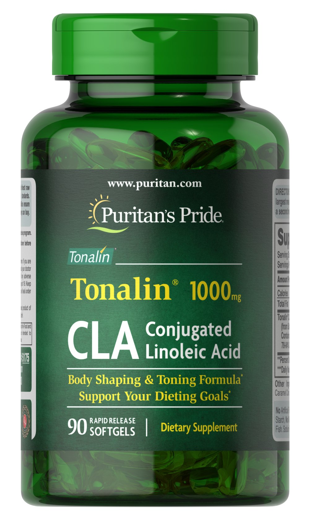 CLA 1000 mg Tonalin® Thumbnail Alternate Bottle View