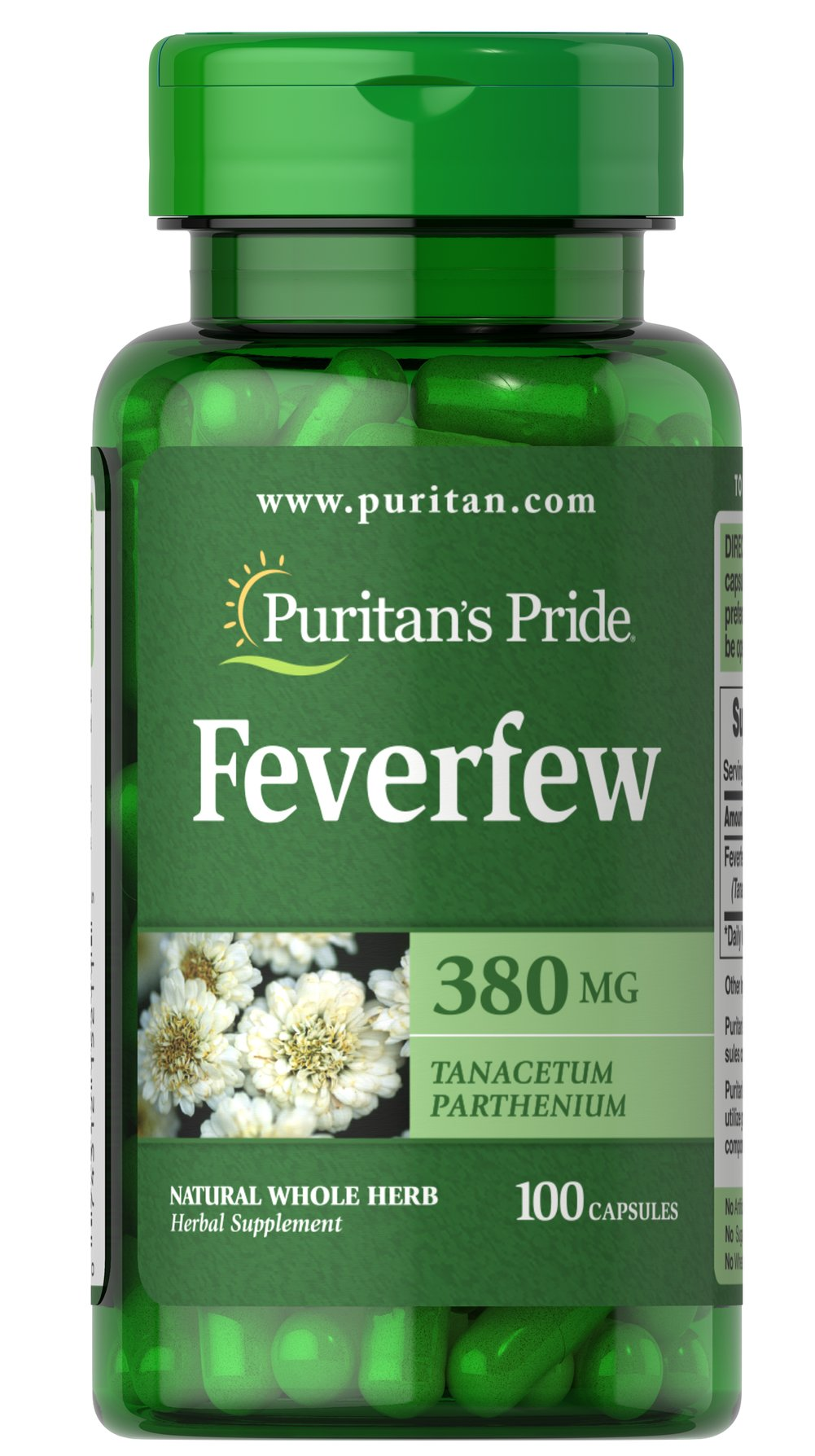 Feverfew 380 mg Thumbnail Alternate Bottle View