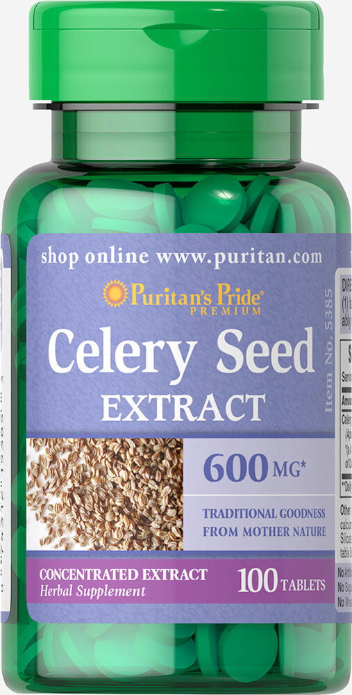 Celery Seed 600 mg Thumbnail Alternate Bottle View