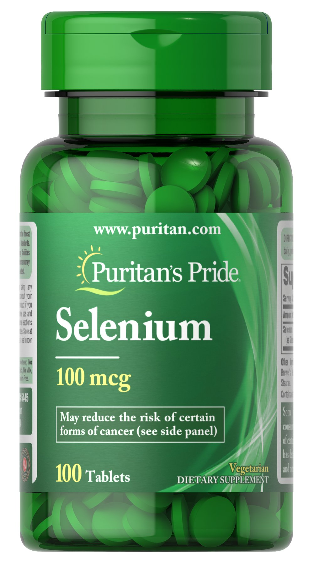 Selenium 100 mcg Thumbnail Alternate Bottle View