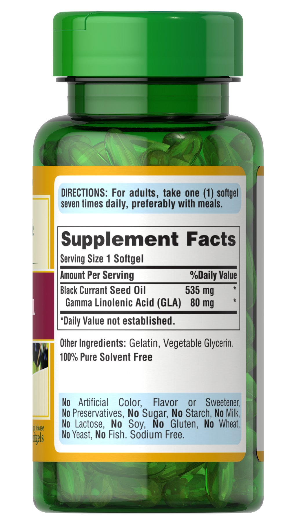 Black Currant Oil 535 mg Thumbnail Alternate Bottle View