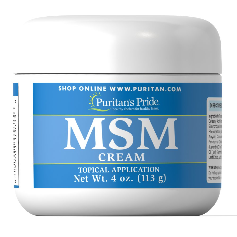 MSM Cream Thumbnail Alternate Bottle View