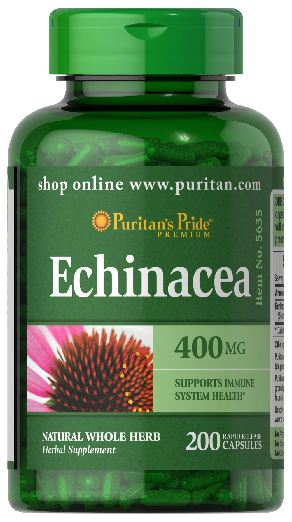Echinacea 400 mg Thumbnail Alternate Bottle View