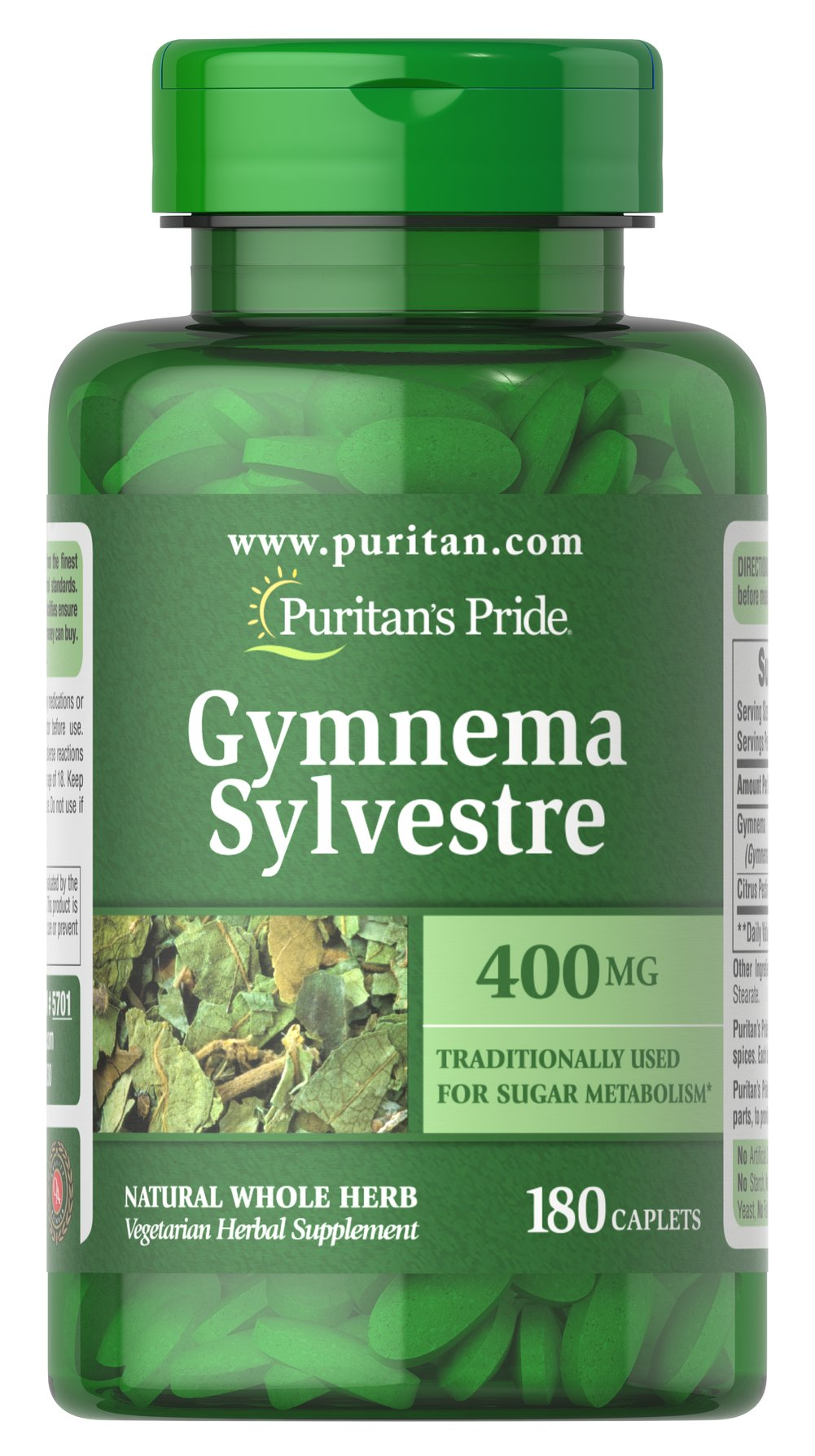 Gymnema Sylvestre 400 mg Thumbnail Alternate Bottle View