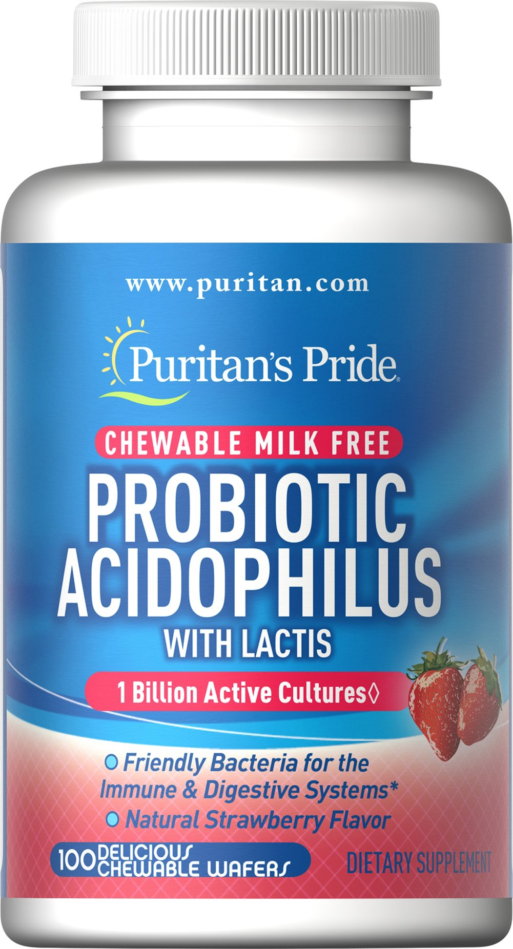 Probiotic Acidophilus Chewables Strawberry