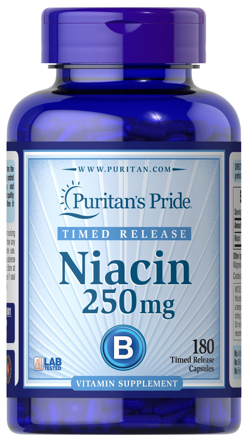 Niacin 250 mg Timed Release Thumbnail Alternate Bottle View
