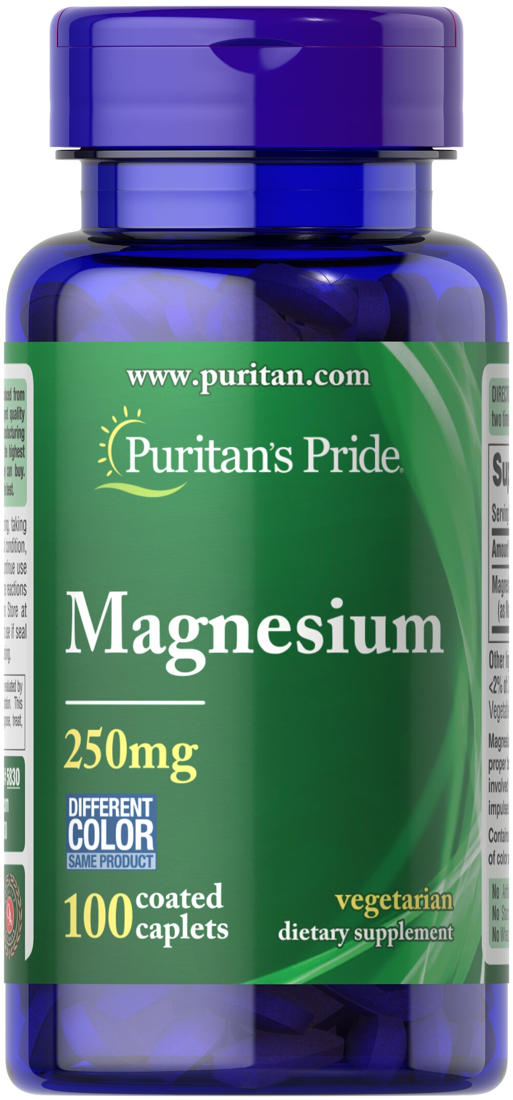 Magnesium 250 mg Thumbnail Alternate Bottle View