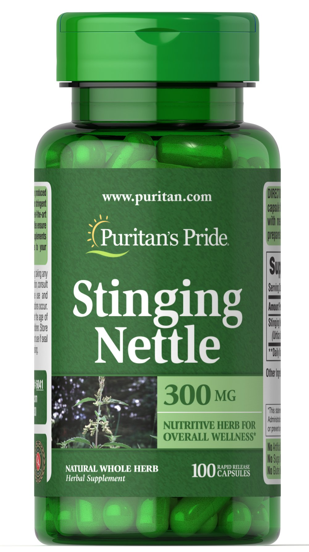 Stinging Nettle 300 mg Thumbnail Alternate Bottle View