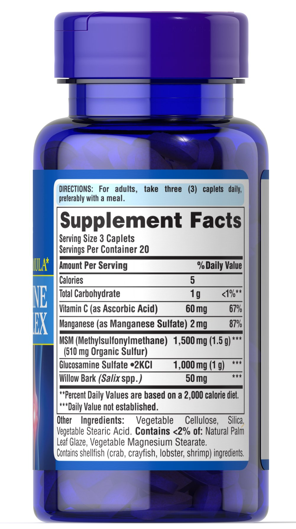 Glucosamine MSM Complex 333 mg/500 mg Thumbnail Alternate Bottle View