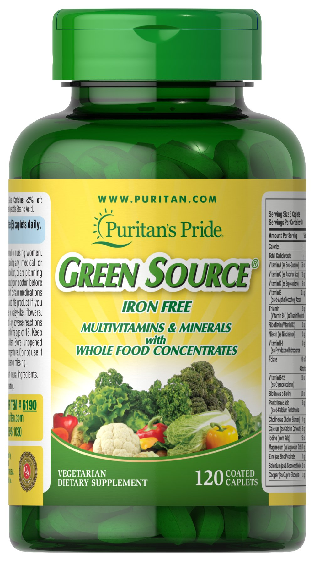Green Source® Iron Free Multivitamin & Minerals
