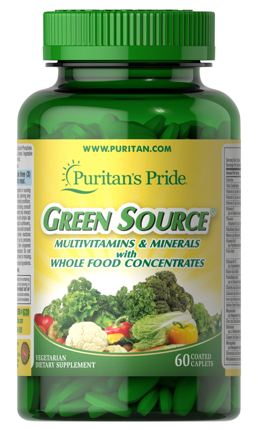 Green Source® Multivitamin & Minerals Thumbnail Alternate Bottle View