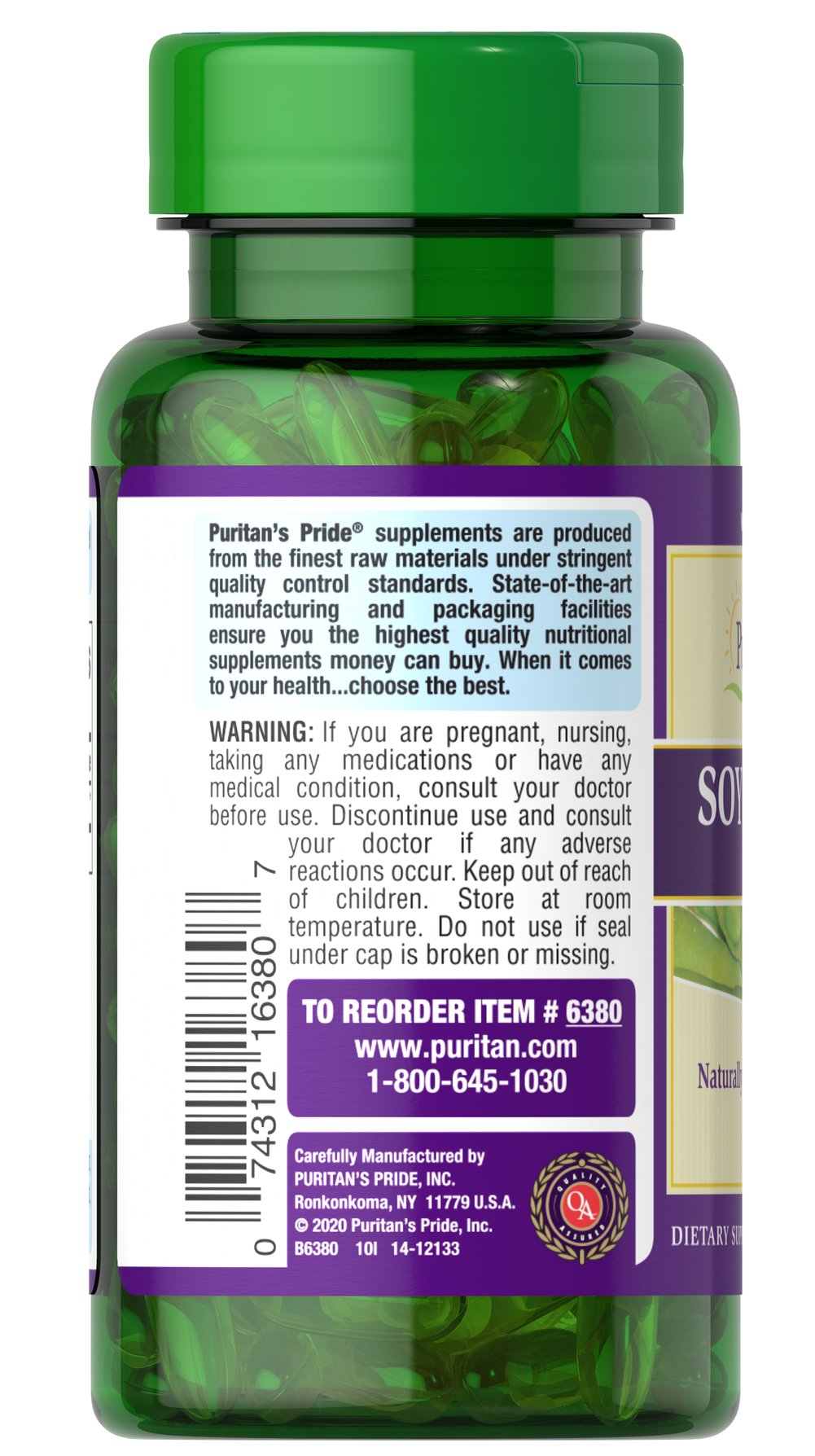 Soy Lecithin 520 mg Thumbnail Alternate Bottle View
