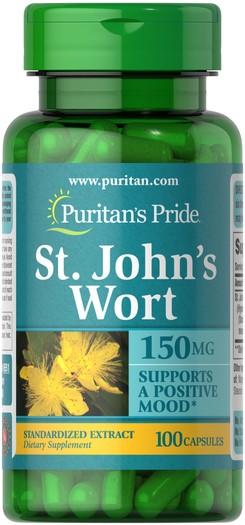 St. John's Wort Standardized Extract 150 mg Thumbnail Alternate Bottle View