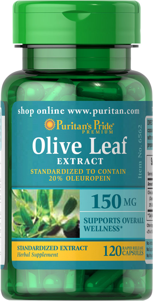Olive Leaf Standardized Extract 150 mg Thumbnail Alternate Bottle View