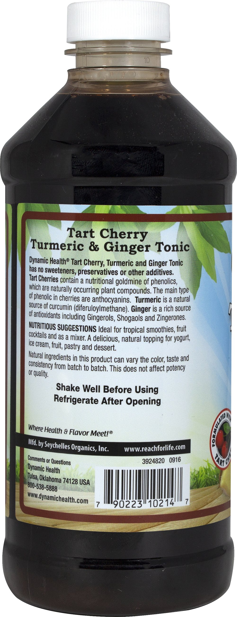Organic Tart Cherry, Turmeric & Ginger Tonic Thumbnail Alternate Bottle View