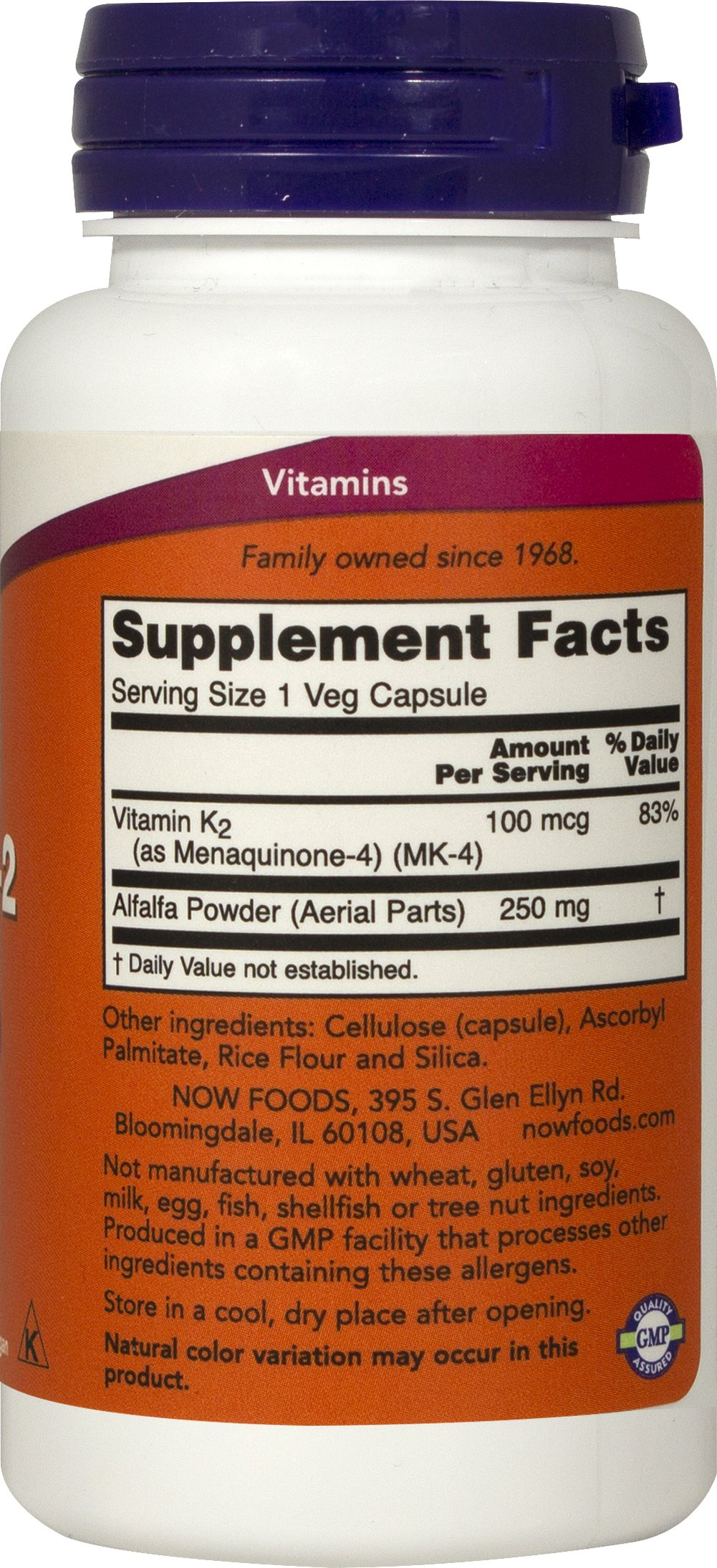 Vitamin K-2 100mcg Thumbnail Alternate Bottle View